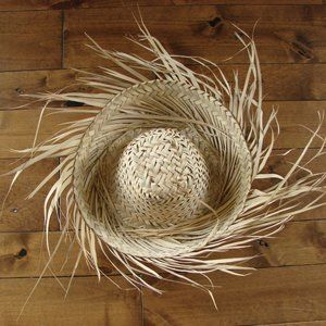 Cute Straw Hat For Summer Beach Tanning